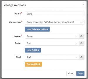 Managing WebHooks through our intuitive interface