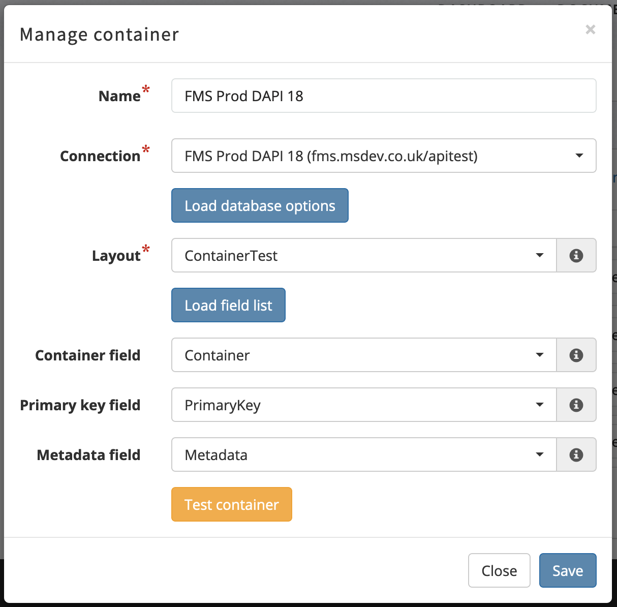 Managing Containers through our easy-to-use interface